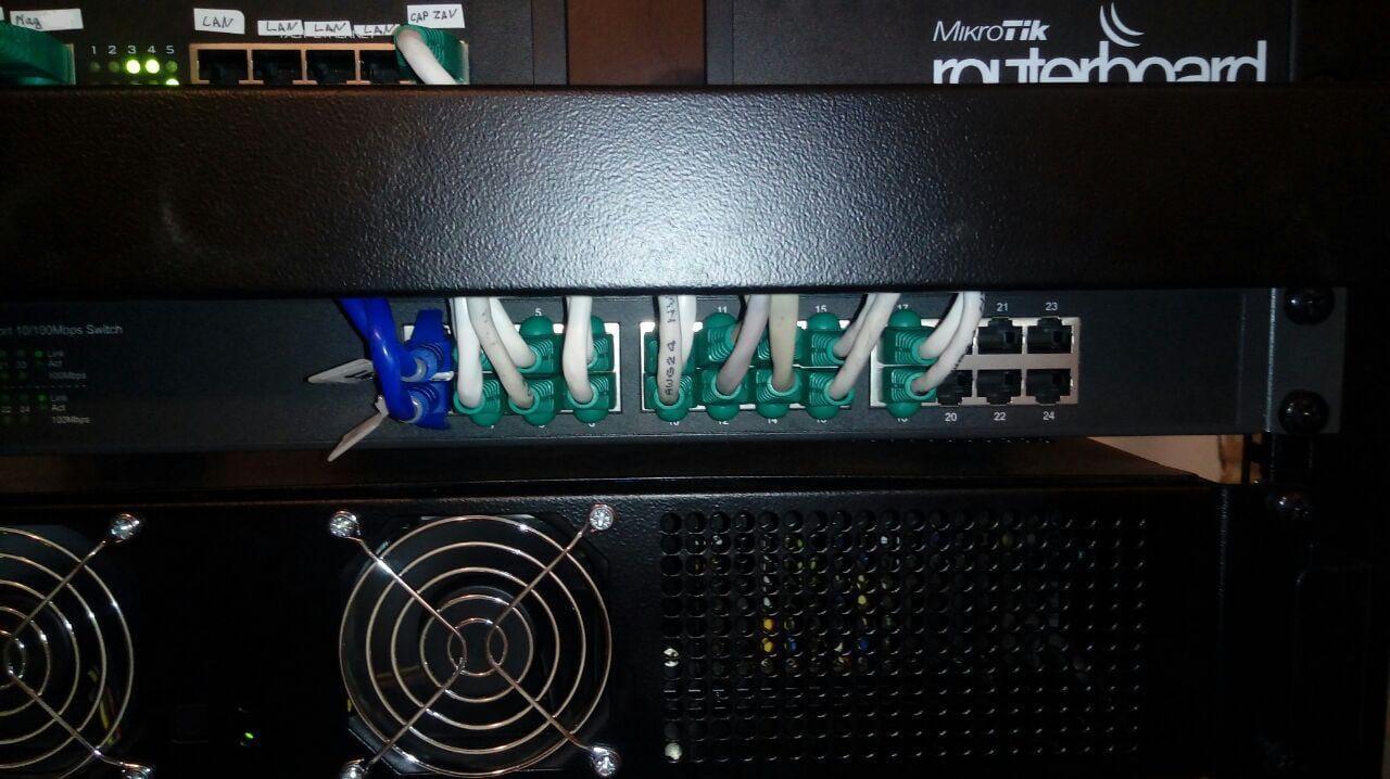 Монтаж серверной стойки №2
