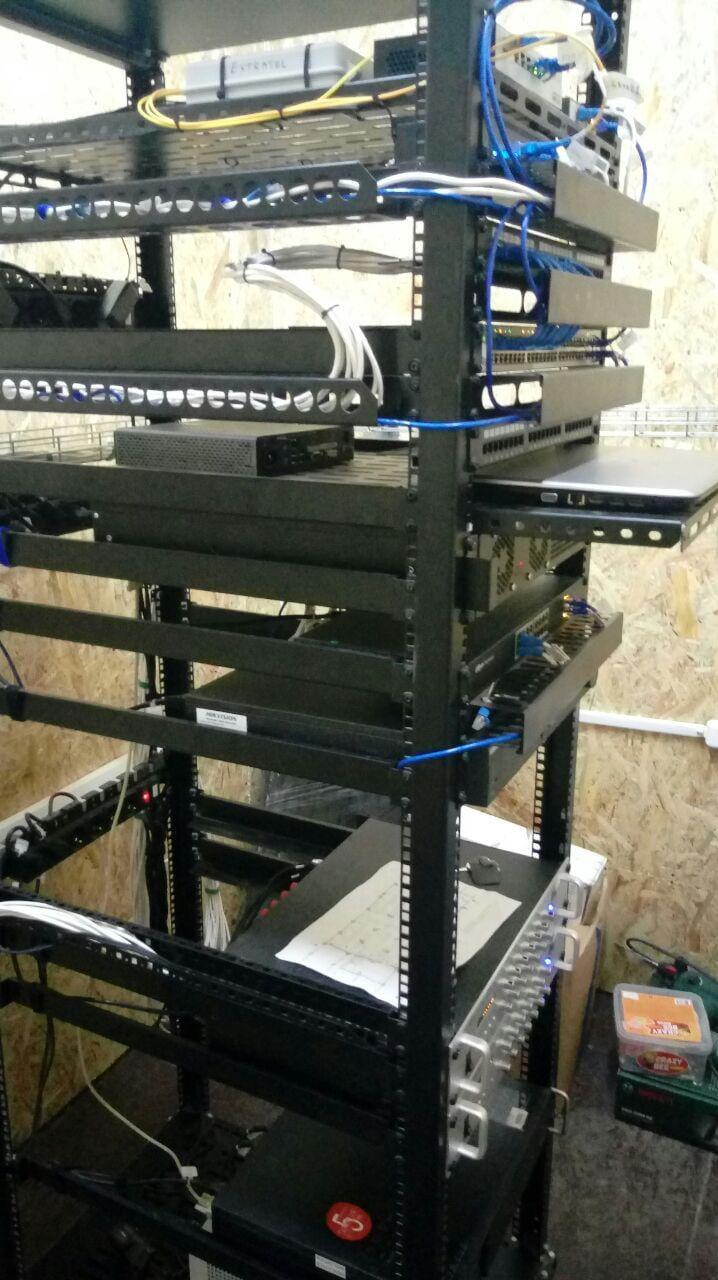 Монтаж серверной стойки №3